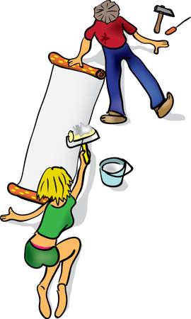 repairs: couple makes repairs