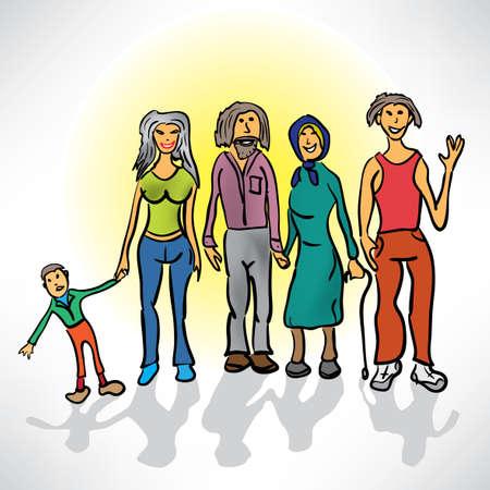 famiglia numerosa: grande famiglia nel ritratto