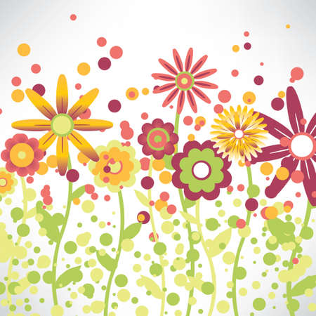 background with a floral pattern of child Vector