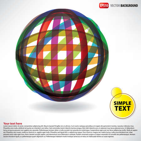 Flyer abstract sphere of rubber thread Stock Vector - 13394092