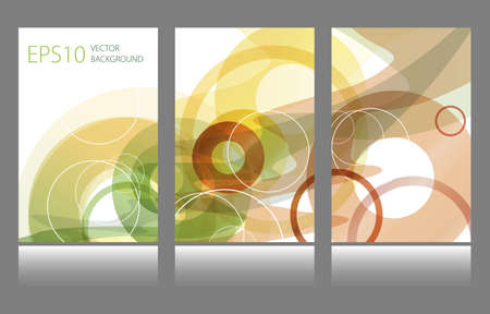 Set of abstract colorful circle