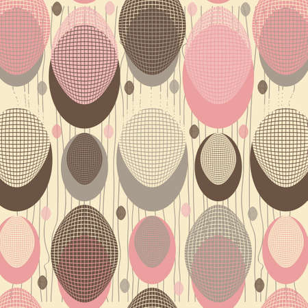 abstract background of the ovals Vector