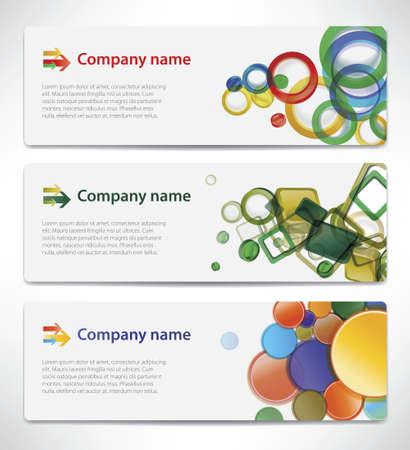Banners met kleurrijke cellen