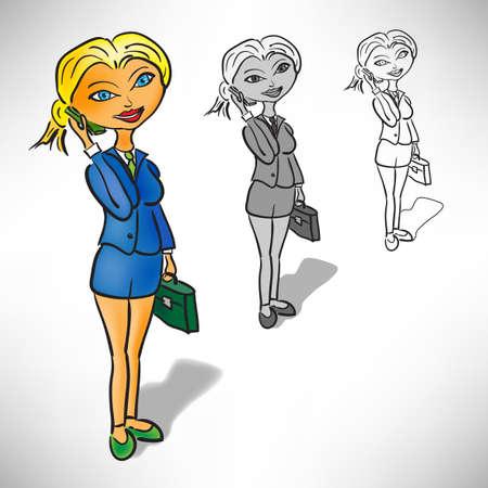 blondie: businesswoman with phone