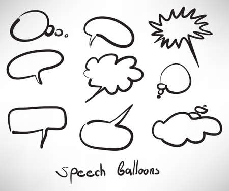 Sketch style speech bubbles
