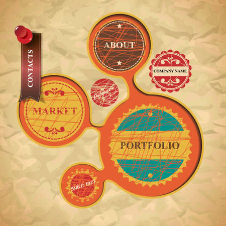 Website design in vintage style Vector