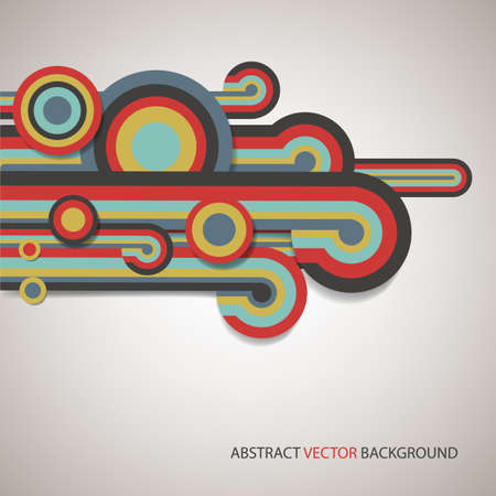 abstract poster of colored lines Vector