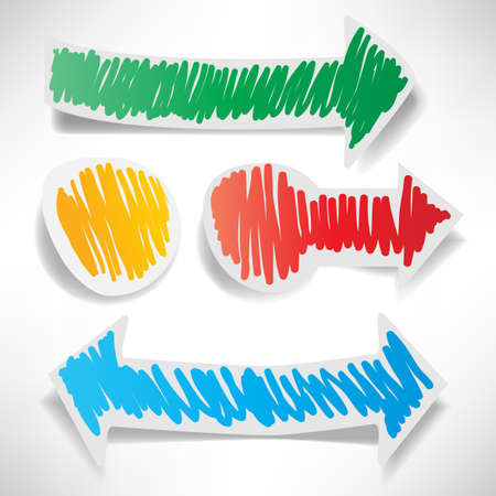 Colored stickers in the shape of arrows Stock Vector - 15860338