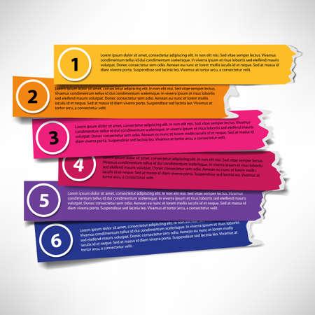 folleto: Conjunto de rayas de colores con bordes irregulares Vectores