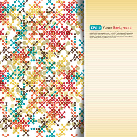 crosses: Abstract color card with crosses Illustration