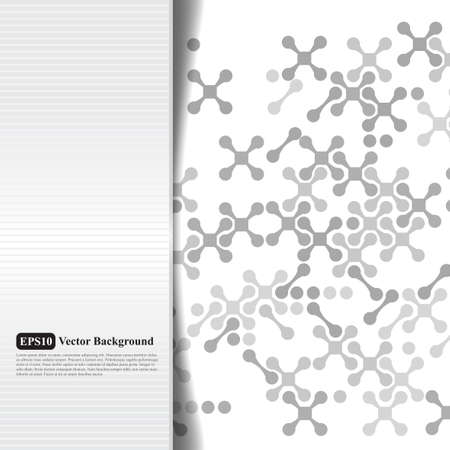 Abstract grayscale card with crosses Vector