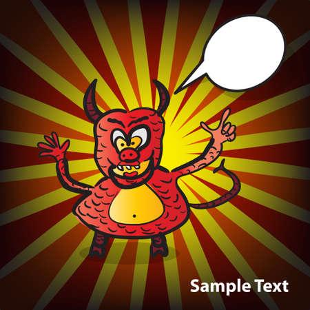 sermon: Card with funny devil