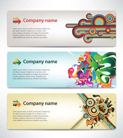 Banners with the corporate style Stock Vector - 16423360