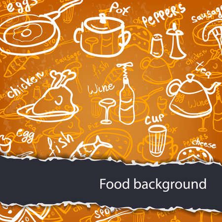 Food background Stock Vector - 16489028