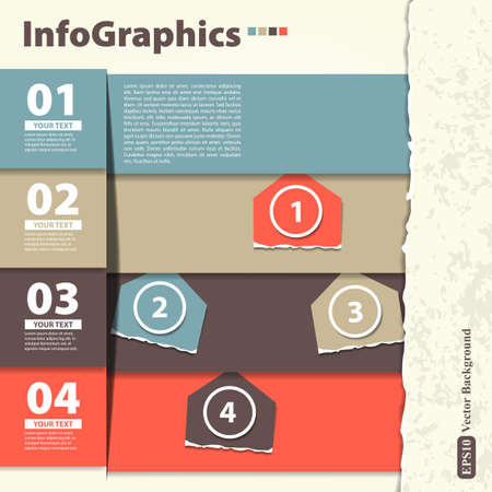 Modern Design template with infographics Stock Vector - 17258011
