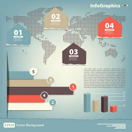 Elements for the infographic on the world map