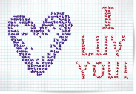 Postcard Happy Valentine s Day Stock Vector - 17258010