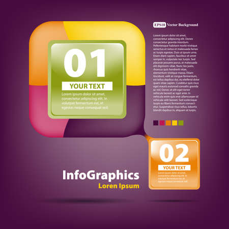 Template for design in the style of infographics