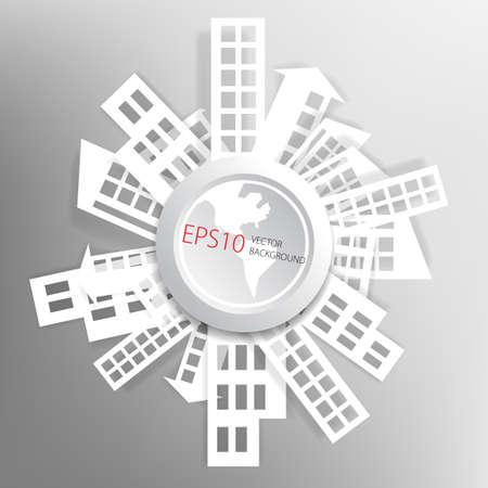 Abstracte achtergrond met papier huizen Vector Illustratie