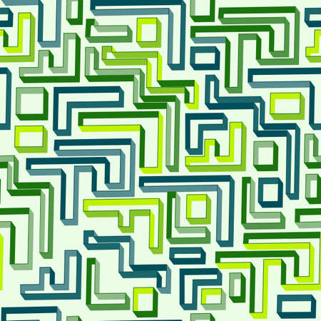Seamless pattern of green maze Vector
