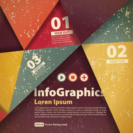 Modern abstract banner design for infographics Illustration