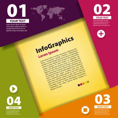 grafica: Plantilla de dise�o moderno para la infograf�a Vectores