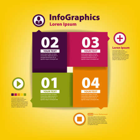 Modern Design template for infographic with icons