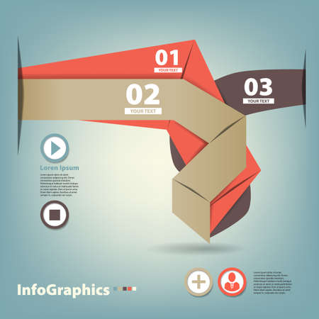 Set of paper tape for infographic Stock Vector - 17712465
