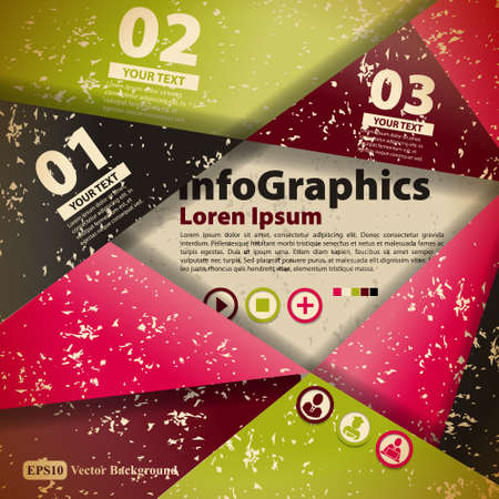 Modern abstract banner design for infographics Vector