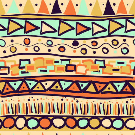 Seamless pattern in the Mexican style Illustration