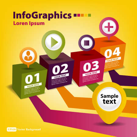 Modern Design template for infographics with boxes