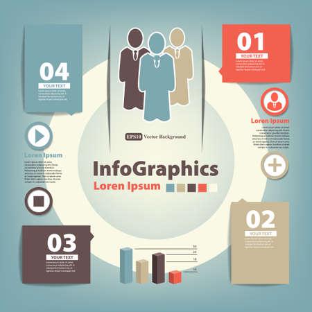Modern Design template for infographics Illustration
