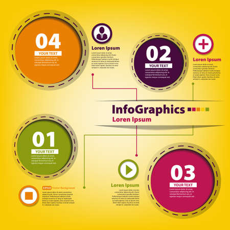 Elements for infographics with colored circles Stock Vector - 18028445