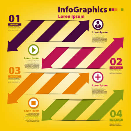 Design template for infographics with horizontal cutout lines Stock Vector - 18028444