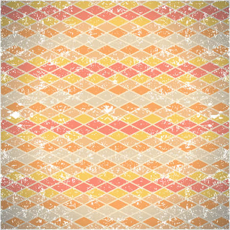 seamless pattern of shabby vintage rhombs Stock Vector - 18028441
