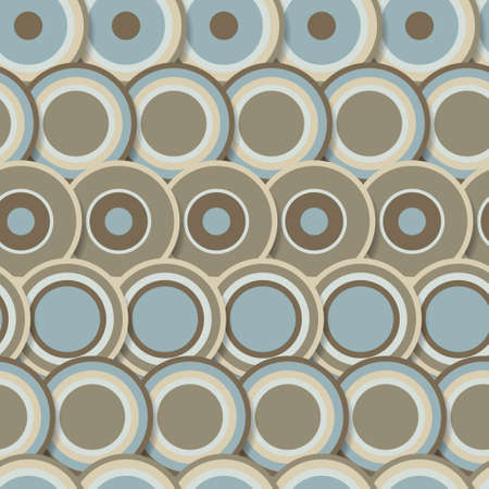Seamless pattern of brown abstract circles Stock Vector - 18625802