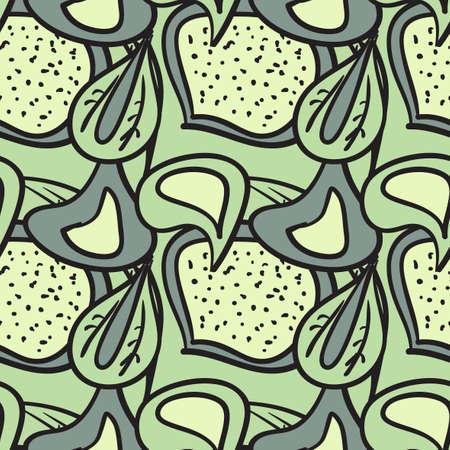 seamless pattern of fresh leaves Stock Vector - 18784170