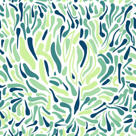 Ornamental seamless pattern in shades of green Vector