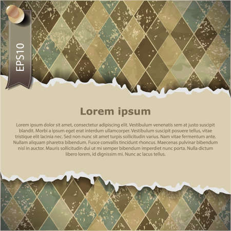 Vintage checkered background, with space for your text Vector