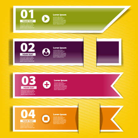 Four ribbons of infographics for your design Stock Vector - 19060995