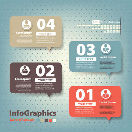 baloon: Set of elements for infographics in the form speech baloons