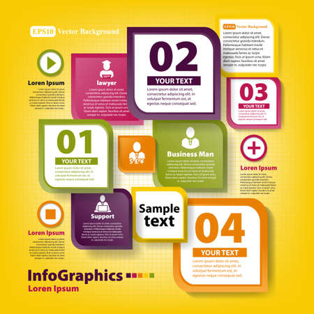 Modern infographic template for business team work Stock Vector - 20165864