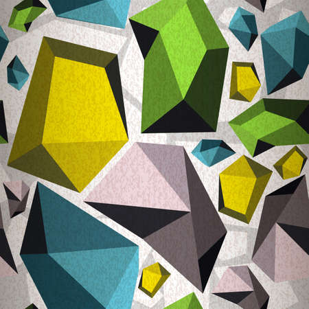 Seamless pattern of abstract diamonds Vector