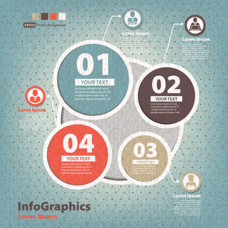 infographic template in vintage style Stock Vector - 20165892
