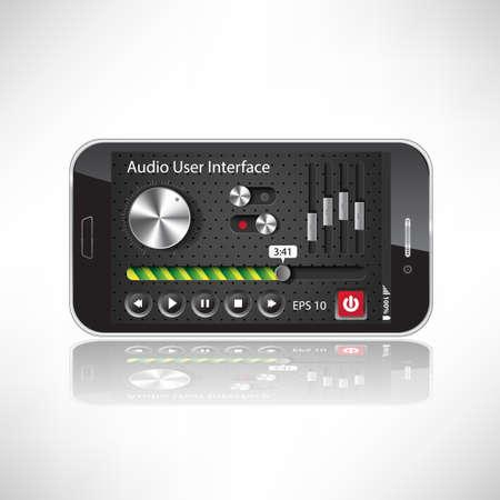 mobile application: UI Mobile Application Metal, black Smartphone  Illustration