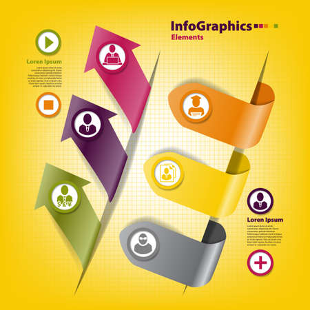 Set of stickers for infographics with business professions Stock Vector - 20635227