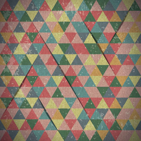 Abstract background of triangles in vintage style Stock Vector - 20653432