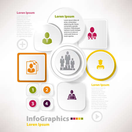 Modern elements for infographics with paper elements for business design Stock Vector - 21036520
