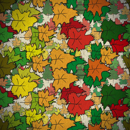 wallpapper: Vintage seamless pattern of colored maple leaves