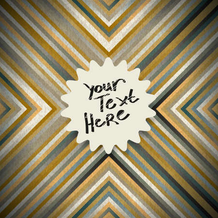 Seamless pattern of abstract multi-colored lines in vintage style with place for your text Stock Vector - 21036526